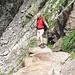 ..... mal über treppenartig verlegte Steinplatten .....