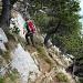 [u Burro] im Abstieg auf der Zilistock-Route