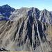 Blick nach Westen zur Peiderspitze mit dem Ostgrat(links runter)