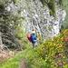 im Aufstieg zur Spitzflue; von hier hat man einen schönen Blick hinunter zum Euschelspass