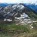 Glegghorn: Blick auf weitere Gipfelziele: Kamm, Messhaldenspitz, Vilan.