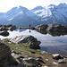 Gianluca sulle rive di uno dei laghi del Loson.