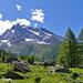 Das Tal wird offener: Blick auf das Hübschhorn