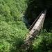 Hohe und zum Teil baufällige Brücken überspannen den Isorno und seine Nebenflüsse