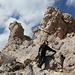 Aufstieg zum Turtlehead Peak - Der genaue Wegverlauf unterhalb des Sattels ist abschnittsweise schwer auszumachen.