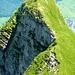 Der Hochnase auf 2195m. Links geht der T5- Quergang zur Rautispitz