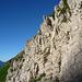 Erste Kletterstelle – Steilstufe am Mittleren Leistchamm (II-III)