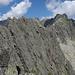 Blick vom Gipfel auf den klettermässig weniger lohnenden, zweiten Teil zum Gross Schijen