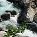 Ausklang auf dem Sentiero vecchio zwischen Campo Blenio und Olivone: schäumende Wasser des Brenno della Greina...
