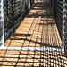 wackelige Hängebrücke