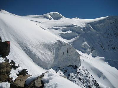 Eisschönheit in Vollendung, Blick vom Fortezzagrat in Richtung Bellavistaterassen