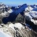 Gipfelaussicht vom Nesthorn (3821m) nach Norden mit Lauterbrunner Breithorn (3780m), Grosshorn (3754m) und Mittaghorn (3892m).