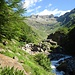 Il pizzo Martello visto dall'alpe Madri in valle del Dosso: è quello a sx