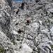 leichte Kletterei am Anfang
