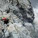 Schön abgesicherter Klettersteig