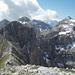 Bivacco Bonvecchio e cima Sassara sullo sfondo