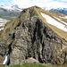 Die Punta di Stou 2566m mit interessanter Felsformation