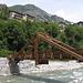 die neue Brücke über die Maira nahe Bassura, die alte hatte ein Hochwasser weggerissen