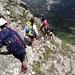 Inizio del tratto Alpinistico facile, che percorreremo in discesa.