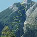 Der Abstiegsweg von der Große Arnspitze ist gelb markiert