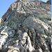 Einstieg in die erste SL am Bergseeschijen Südgrat
