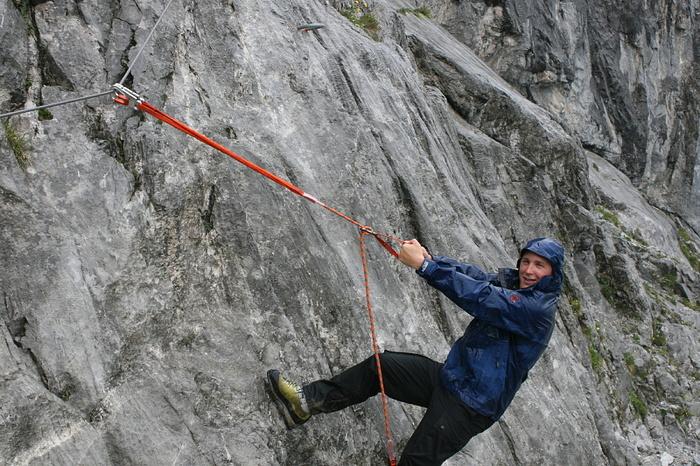 Klettersteig Sulzfluh : Einstieg klettersteig sulzfluh heute unser point of hikr