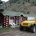 """Lake City (Colorado), 11.07.2009 - Blockhütte für die Nacht vor dem """"Gipfelsturm"""". ."""