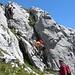 im Abstieg auf Voie 1 (K1)....für geübte auch ohne Klettersteigset möglich