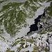 Tiefblick über die 300m hohe Nordwand vom Chli Gemsispil (2380m).