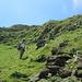 Lisbeth beim Aufstieg zum Forstberg