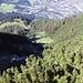 Serpentinen Weg ab Seealpe
