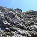 Abstieg vom Entchenkopf durch weglosen Fels