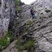 erste steile Felsstufe vom Klettersteig