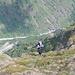 beim Ausstieg; mit Sicht ins Baltschiedertal runter