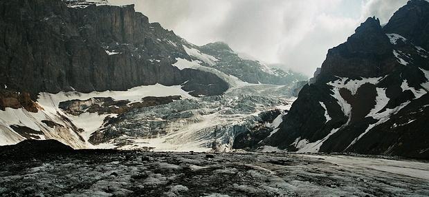 Bifertengletscher beim Abstieg von der Grünhornhütte nach Tentiwang.
