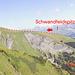 Übersicht Route Schwandfeldspitz > Gsürweg > Schermtanne