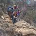 im Abstieg nach Namche Bazar, die Steilheit des Weges kann man nur erahnen