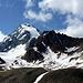 Der Hausberg der Pizzinihütte -die Königsspitze- setzt sich nun auch positiver  (blauer Himmel/Weiße Flanken) in Szene