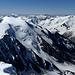 Panorama Süd: Die südliche Ortlergruppe rund um den Fornogletscher. Die Gletscherzunge des Fornogletschers rechts unten... >>Minus 600m<< im Vergleich zu [http://www.hikr.org/gallery/photo456932.html?post_id=30858#1 1987].