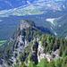 Tiefblick auf Rot Platte und Rheintal