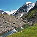 An der Randmorände des Glacier de Corbassière.