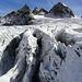 Spalten auf dem Ochsentaler Gletscher, gegen Wiesbadener Grätle und Piz Buin