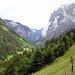 Blick Talaufwärts. Oberhalb Trachsellauenen noch etwa eine Stunde bis Stechelberg