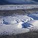 Die unvergleichlichen Canyons im kalten Eis des Grenzgletschers in der Abendsonne