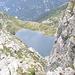 Il Lago Superiore (I) visto dalla cresta che sale al Pizzo Stella