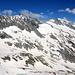 Das Diechterhorn 3389m (leicht von Wolken verdeckt).