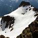 Blick vom Gipfel in die Aufstiegsflanke. Beim Abstieg wunderbar abzufahren…