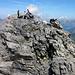 Aufstieg rechts über die Felsen