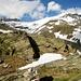 links das Grauhorn 3260m und rechts das Rheinwaldhorn 3402m