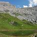 Blick zurück, Chindbettipass mit Chindbettihorn und Tierhörnli
